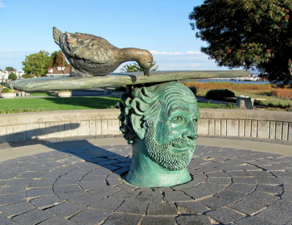 """Benicia Bench"" by Robert Arneson, East Fifth Street side of Benicia Marina"